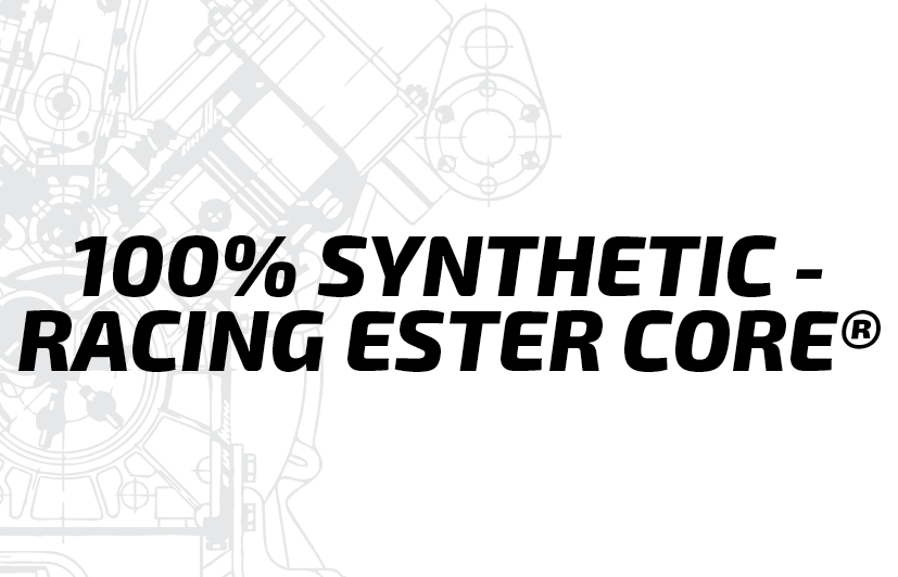 4T-100% SYNTHETIC - RACING ESTER CORE®